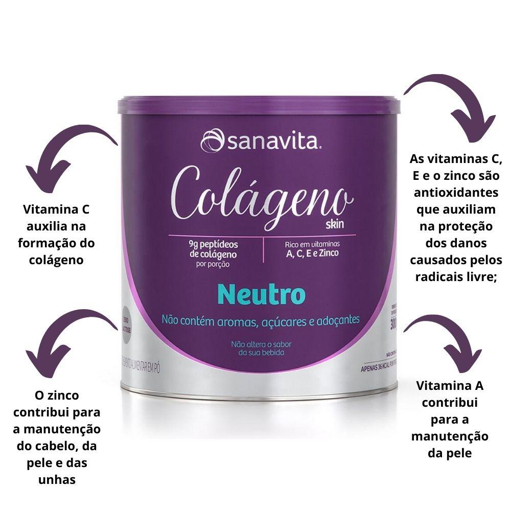 Colágeno Hidrolisado Skin Neutro Lata 300g Sanavita