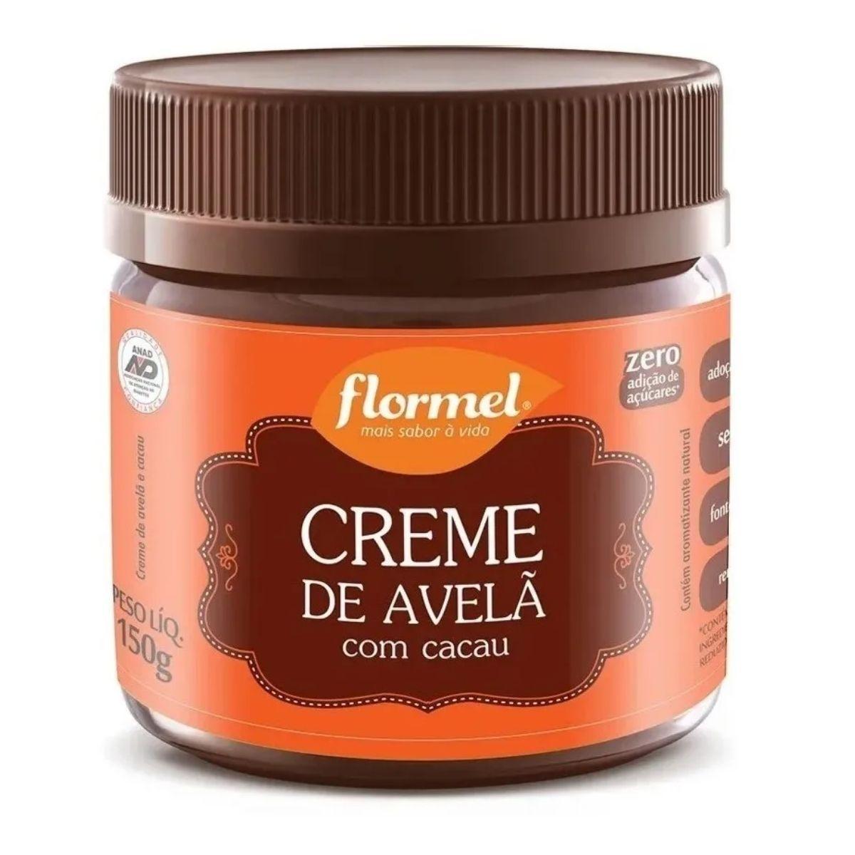 Creme De Avelã Com Cacau Zero 150g - Flormel
