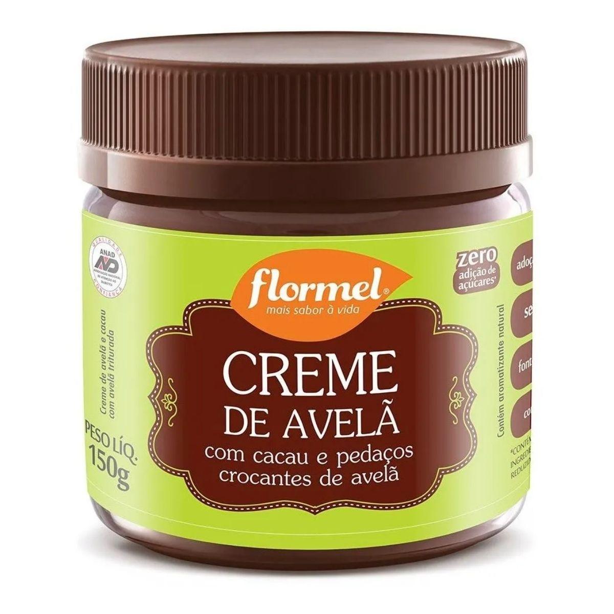 Creme de Avelã Crocante Zero 150g - Flormel