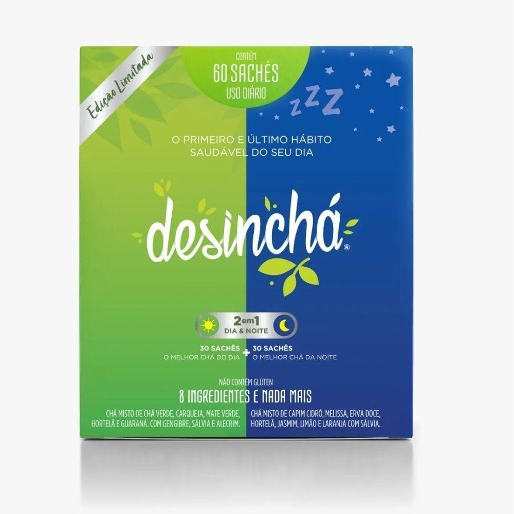 Desinchá Misto 30 Dia + 30 Noite Original Edição Limitada + copo azul