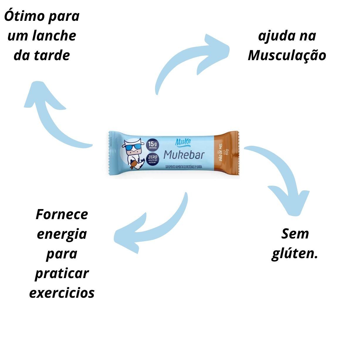 MUKEBAR PÃO DE MEL 720G - 12 UNIDADES