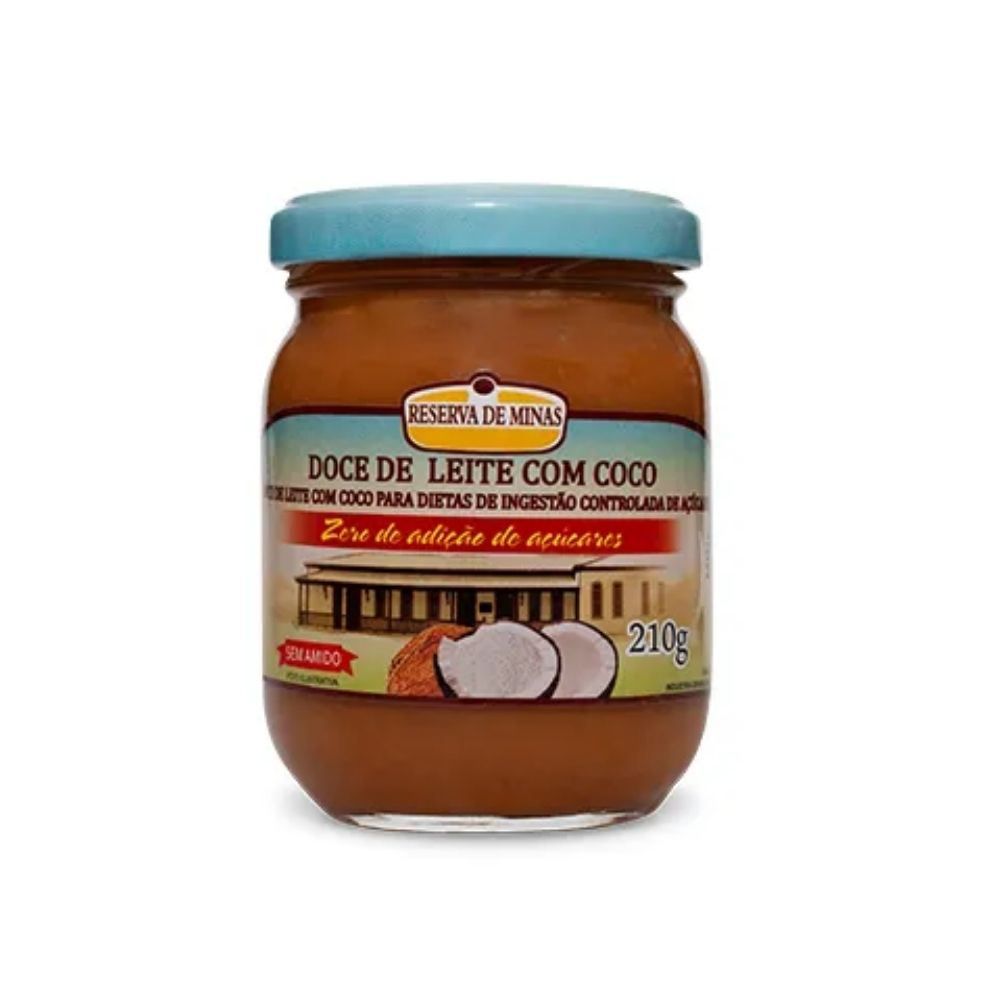 Doce de Leite Com Coco Diet  210G - RESERVA DE MINAS