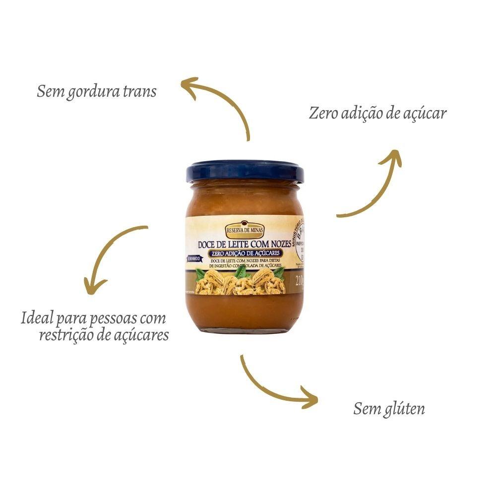 Doce de Leite Com Nozes Diet 210G - RESERVA DE MINAS