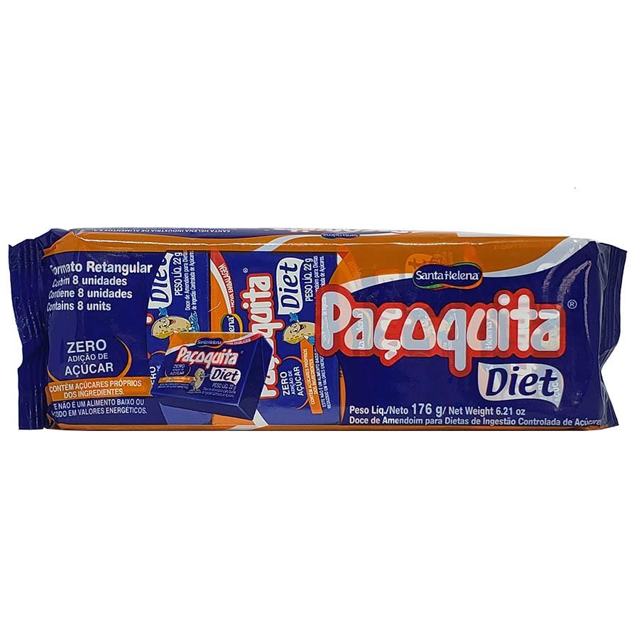 Doce Paçoquita Diet Zero Adição De Açúcar 8 Unidades - Santa Helena