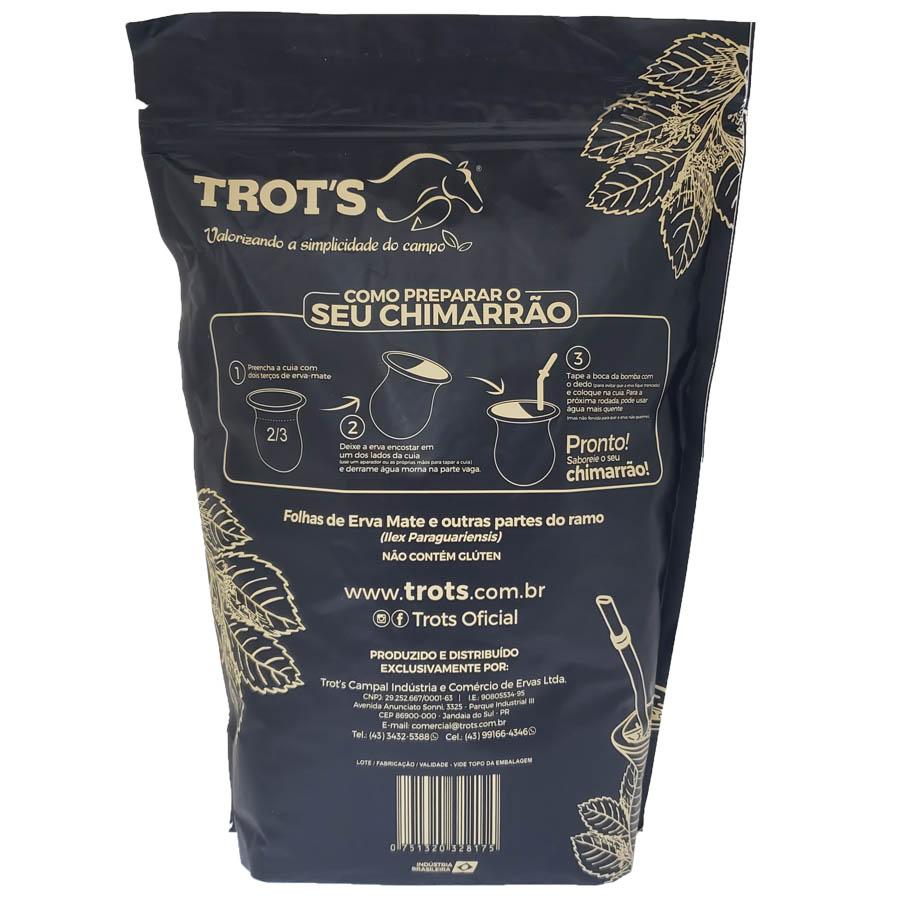 Erva Mate Chimarrão Puro Premium 100% Natural 1kg - Trots
