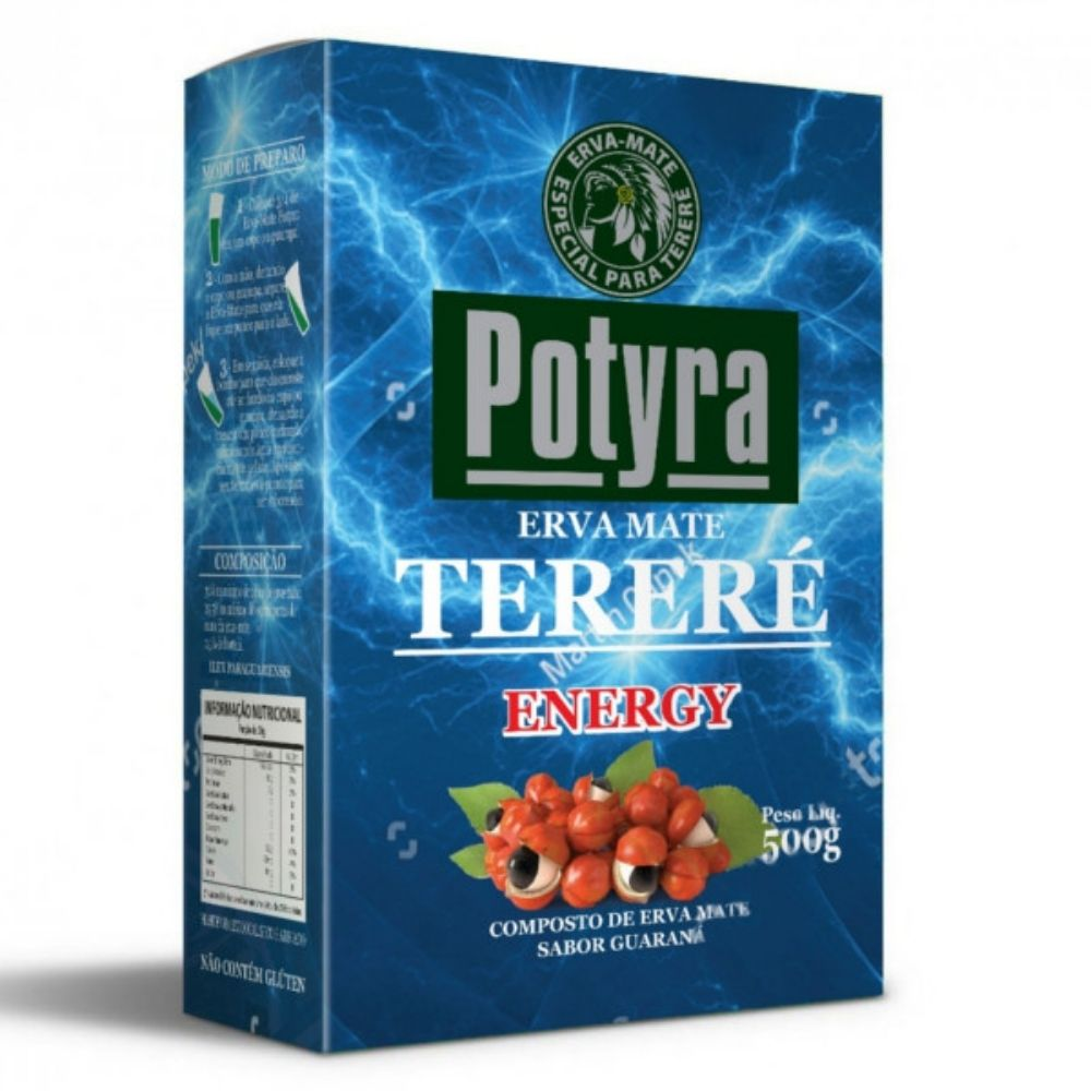 Erva Mate para Terere Energy sabor guaraná 500g Potyra