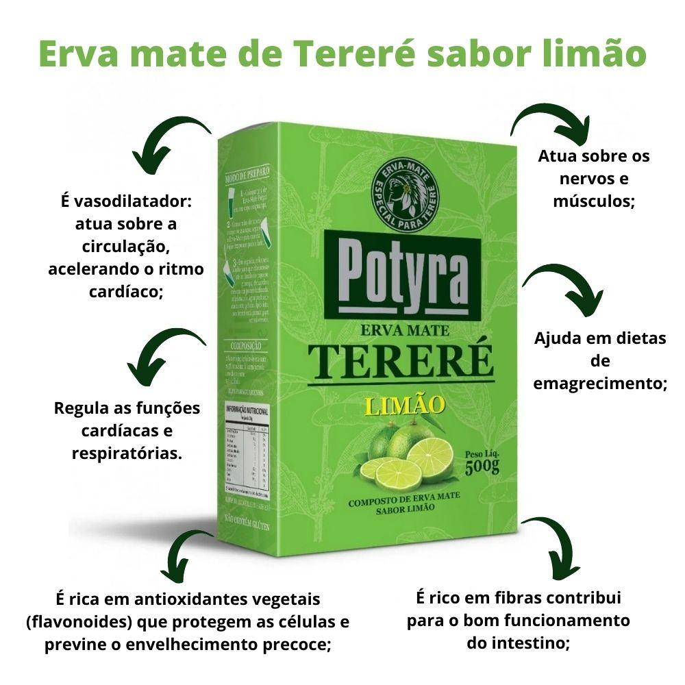 Erva Mate para Terere sabor limão 500g Potyra