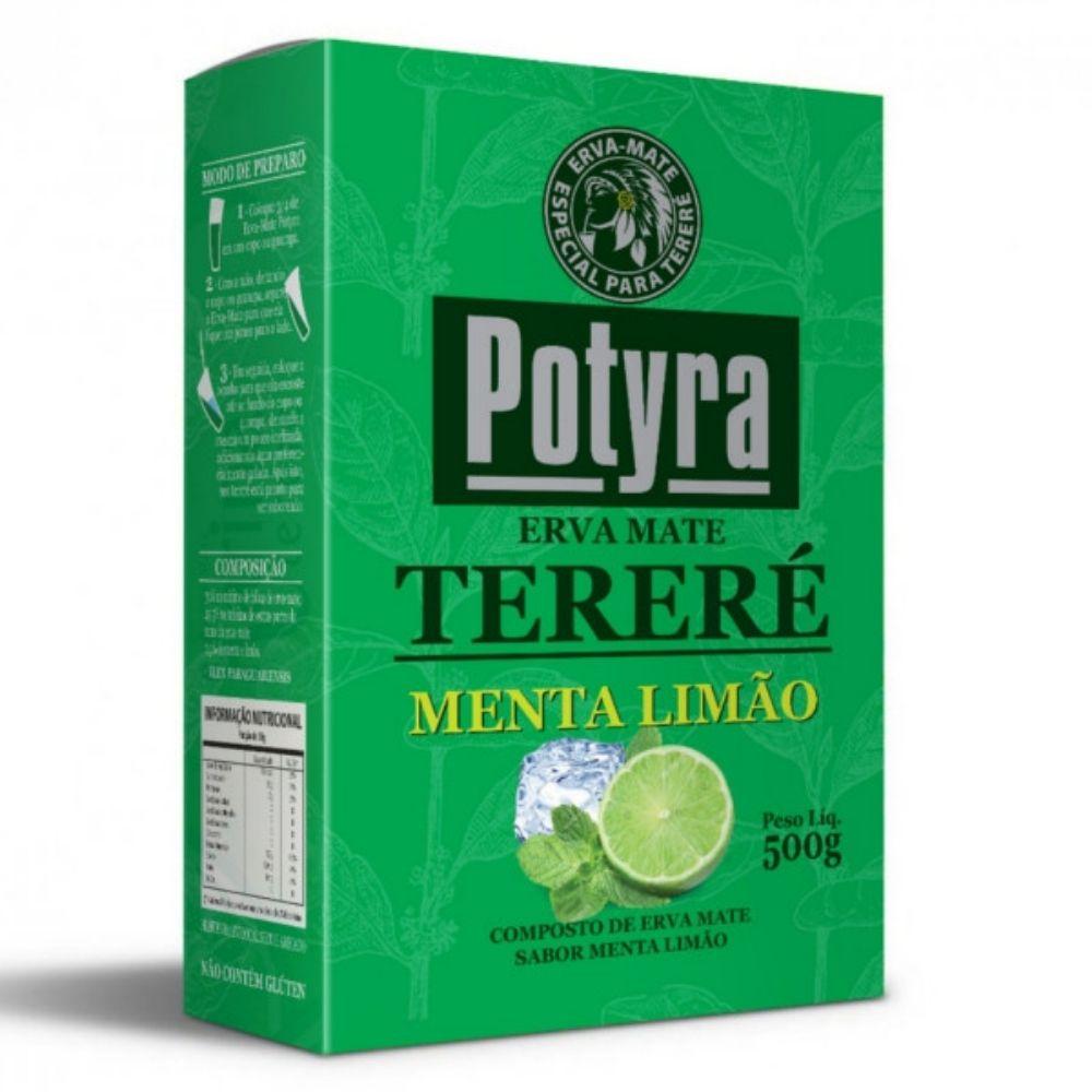 Erva Mate para Terere sabor menta e limão 500g Potyra