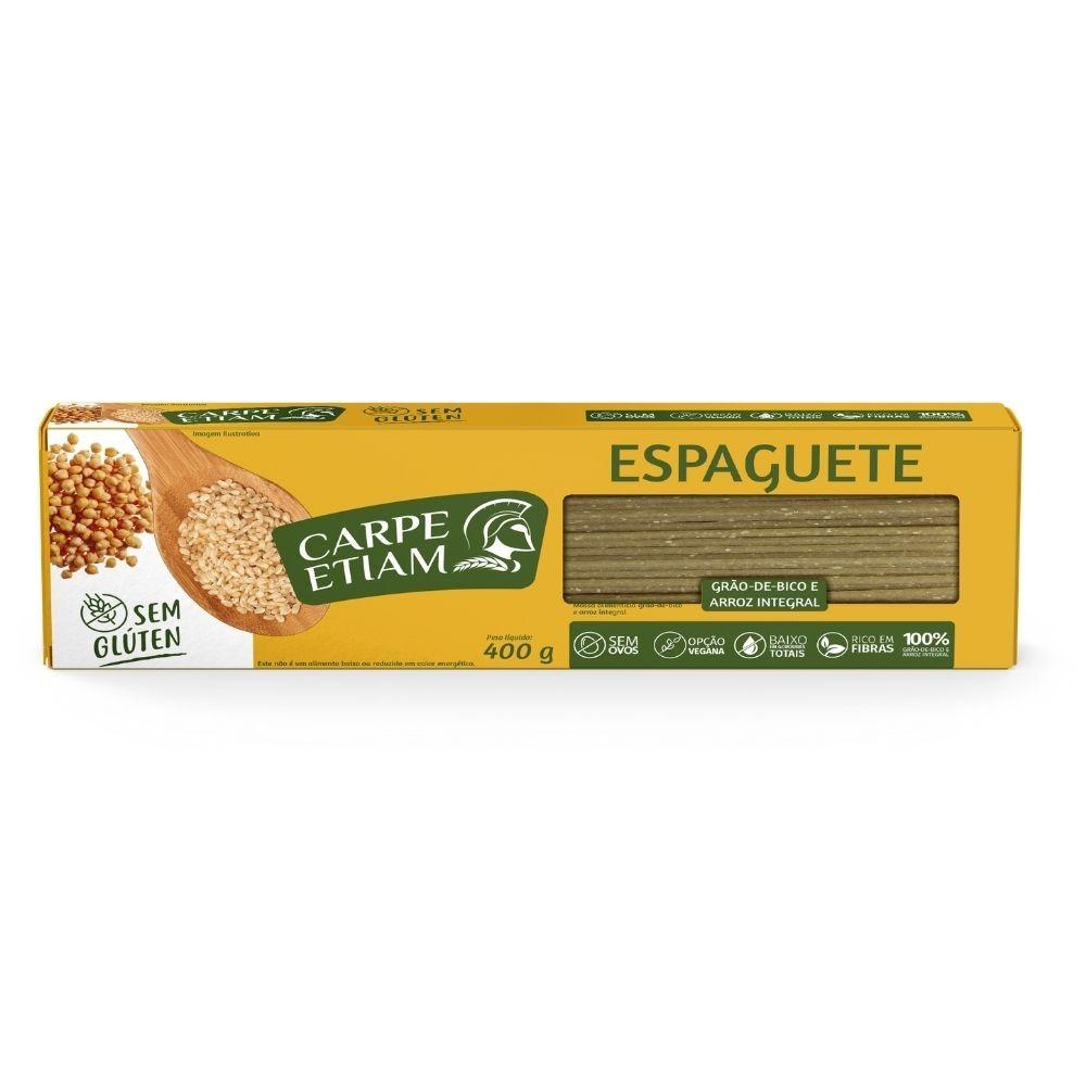 Espaguete Grão de Bico e Arroz Integral 400GR - CARPE ETIAM