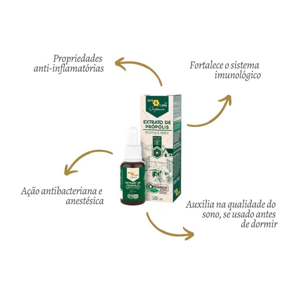 Extrato de Própolis Verde Orgânico 30ML - APIS FLORA