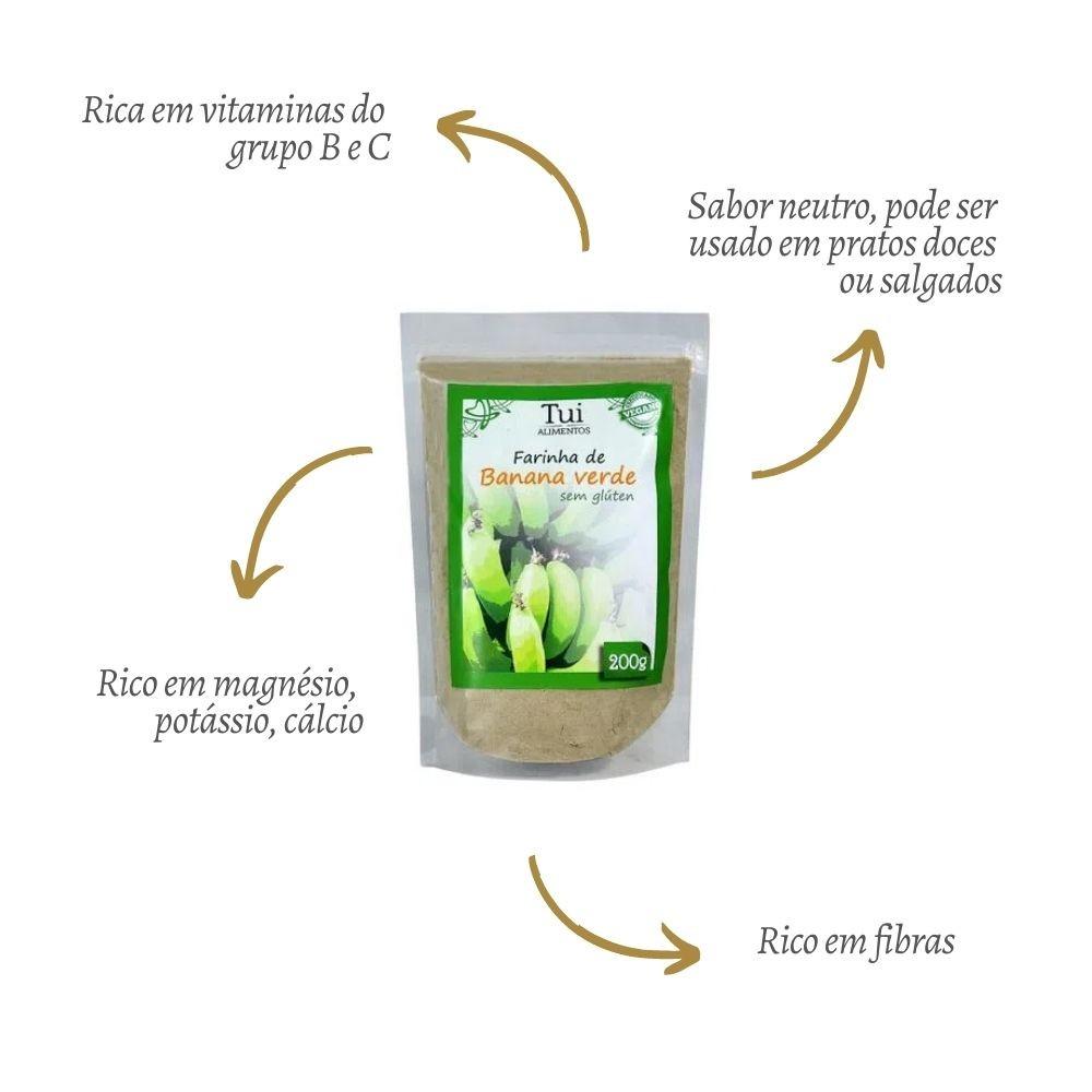 Farinha de  Banana Verde 200G - TUI