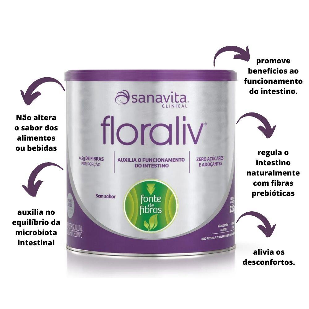Floraliv - Auxiliador no Funcionamento do Intestino Lata 225g Sanavita