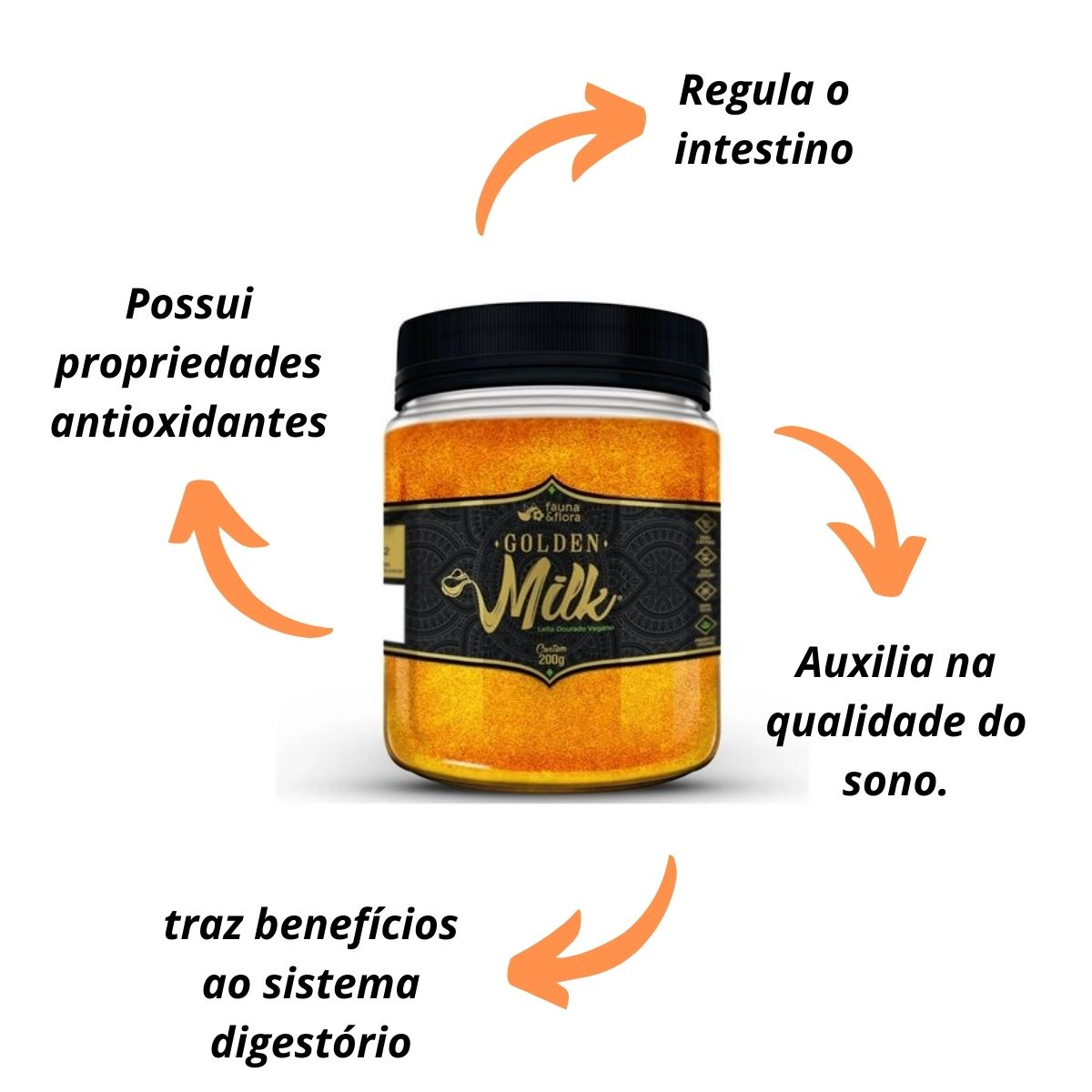 Golden Milk Leite Dourado Vegano 200g - Fauna&Flora