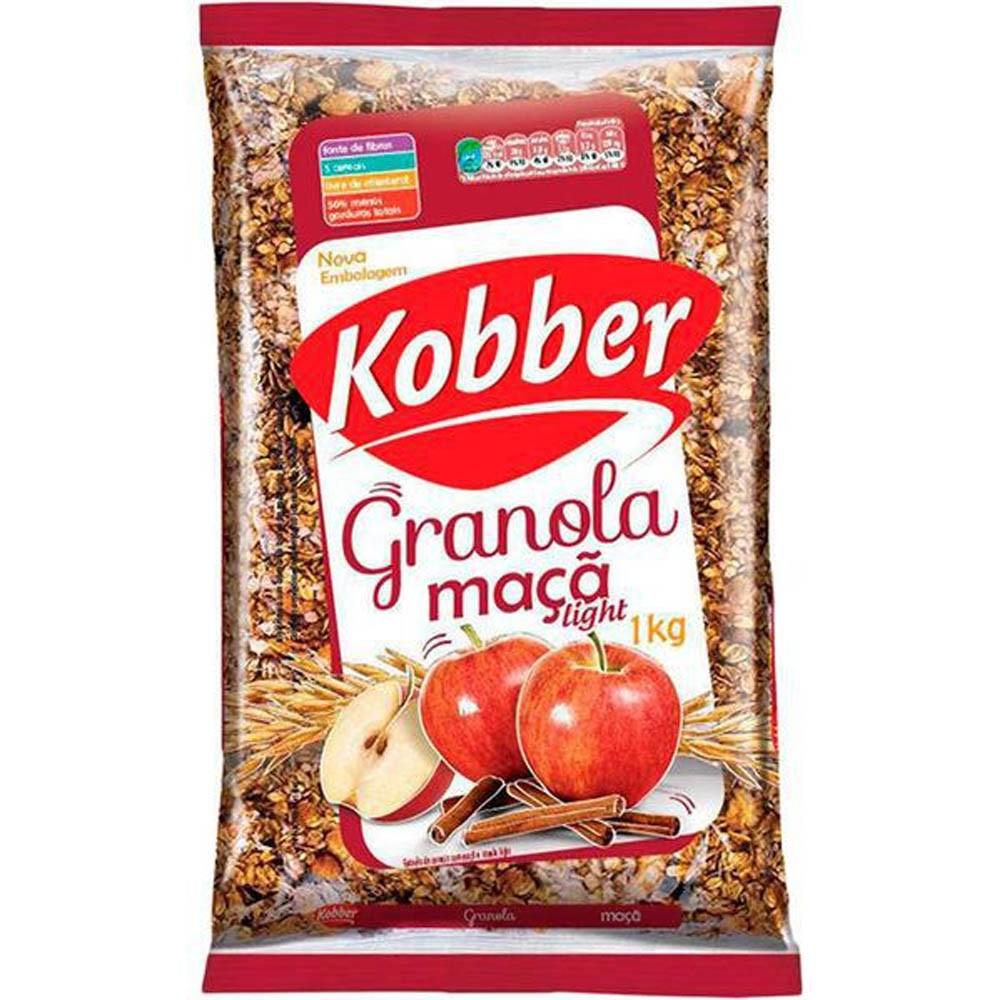 Granola Natural De Maçã E Canela Light 1Kg - Kobber