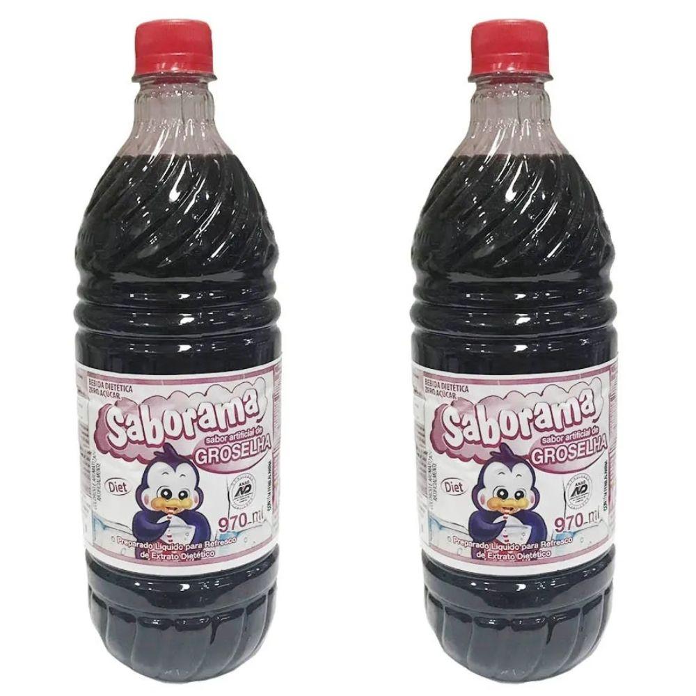 Groselha Diet 970ml Sem Açúcar 2 Unidades - Saborama