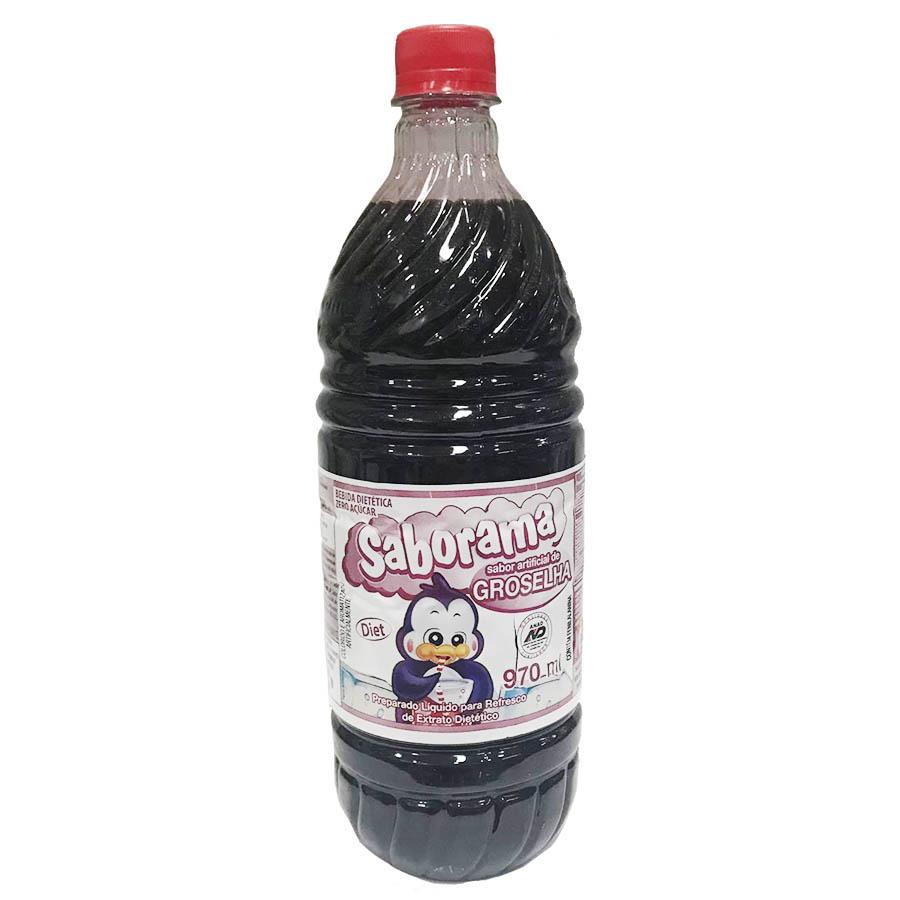Groselha Diet 970ml Sem Açúcar 4 Unidades - Saborama