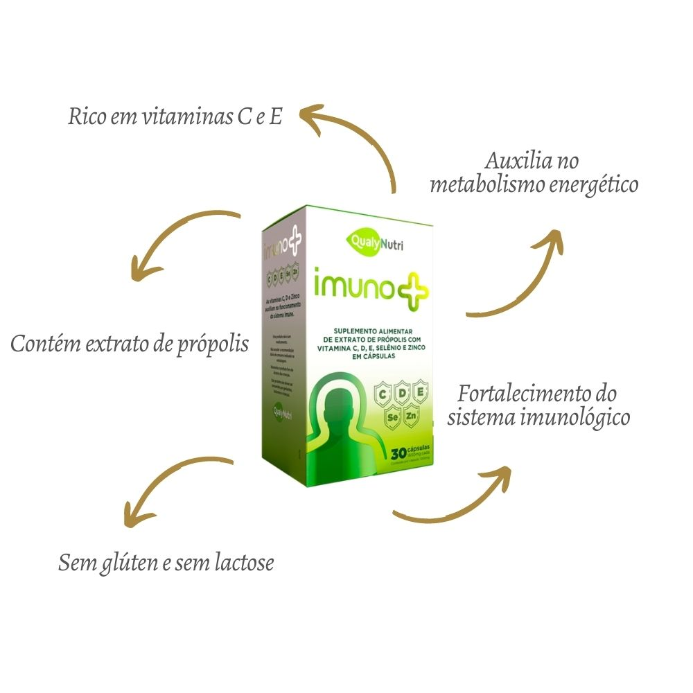 Imuno + 30 Cápsulas - QUALYNUTRI