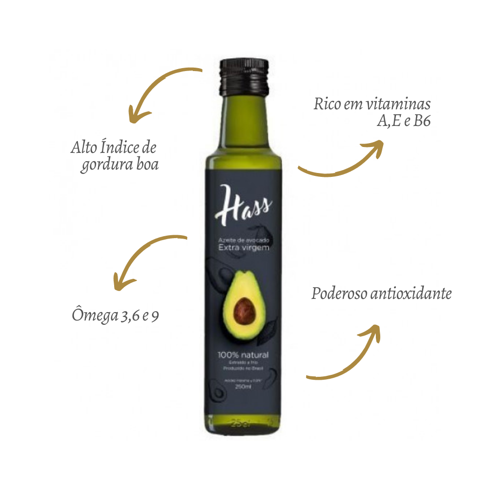 Kit 2 Azeite De Avocado Extraído Frio Extra Virgem 0,5% - 250ml Hass