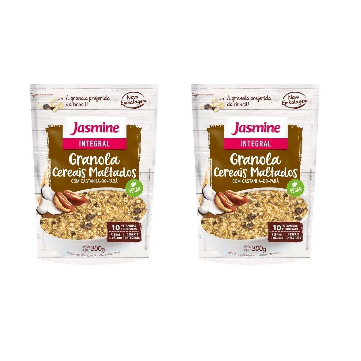 kit 2 Granola Integral Cereais Maltados 300g Jasmine Melhor Preço