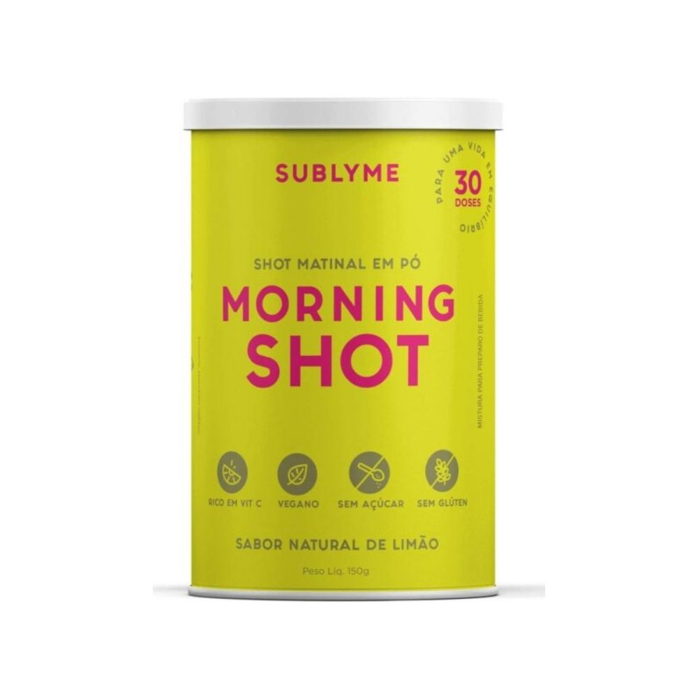 Kit 2 Morning Shot Sabor Limão 150g 30 Doses P/ Imunidade Sublyme