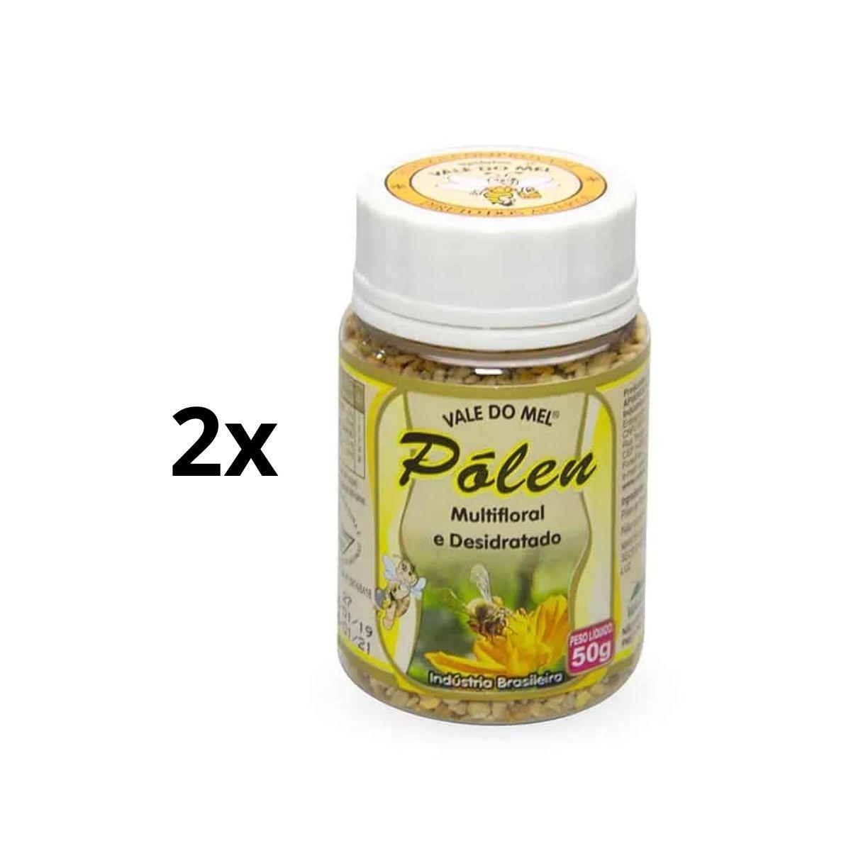Kit 2 Polen Multifloral Desidratado Sem Glúten 50g - Vale Do Mel