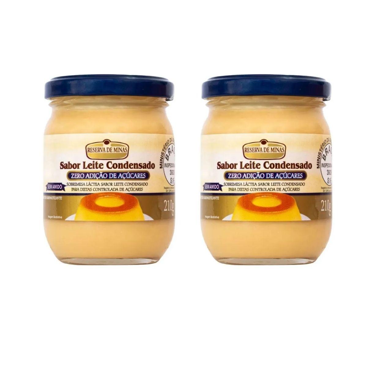 kit  2 Sobremesa Diet Leite Condensado 210g Reserva De Minas
