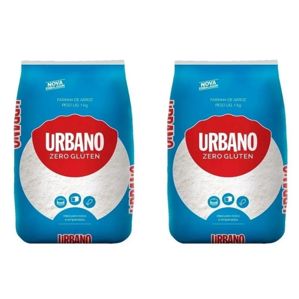 Kit 2x Farinha De Arroz Urbano Zero Glúten 1kg Urbano