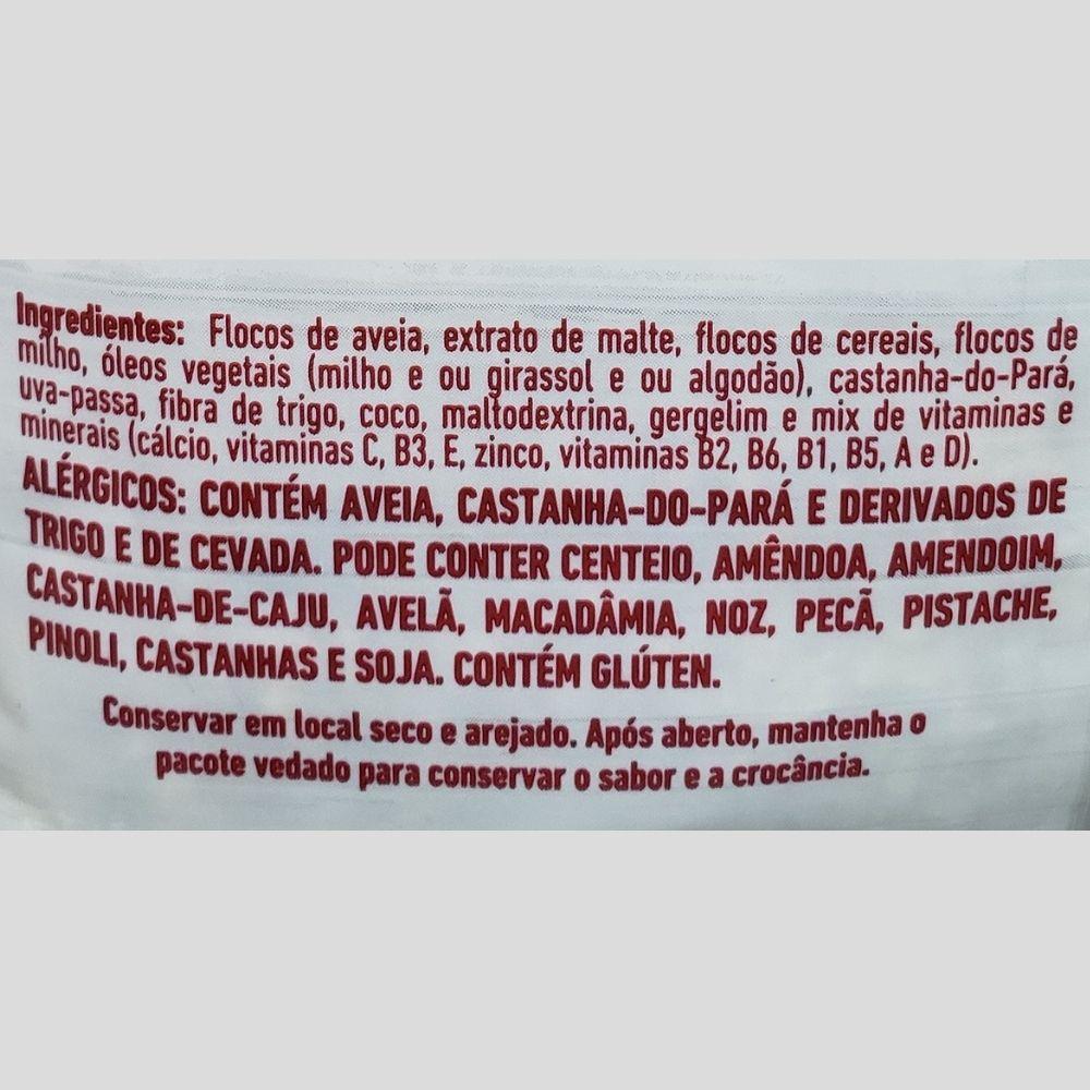 Kit 3 Granola Integral Cereais Maltados 850g Jasmine