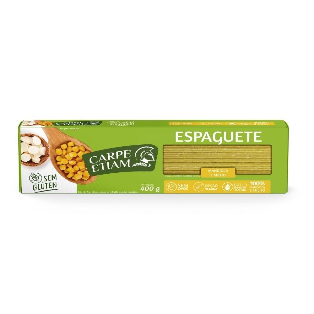 Kit 3 Massa Espaguete De Mandioca E Milho Vegana 400gr Carpe Etiam