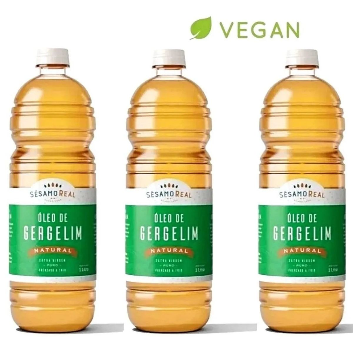 Kit 3 Óleo De Gergelim Extra Virgem 1l Premium - Sésamo Real