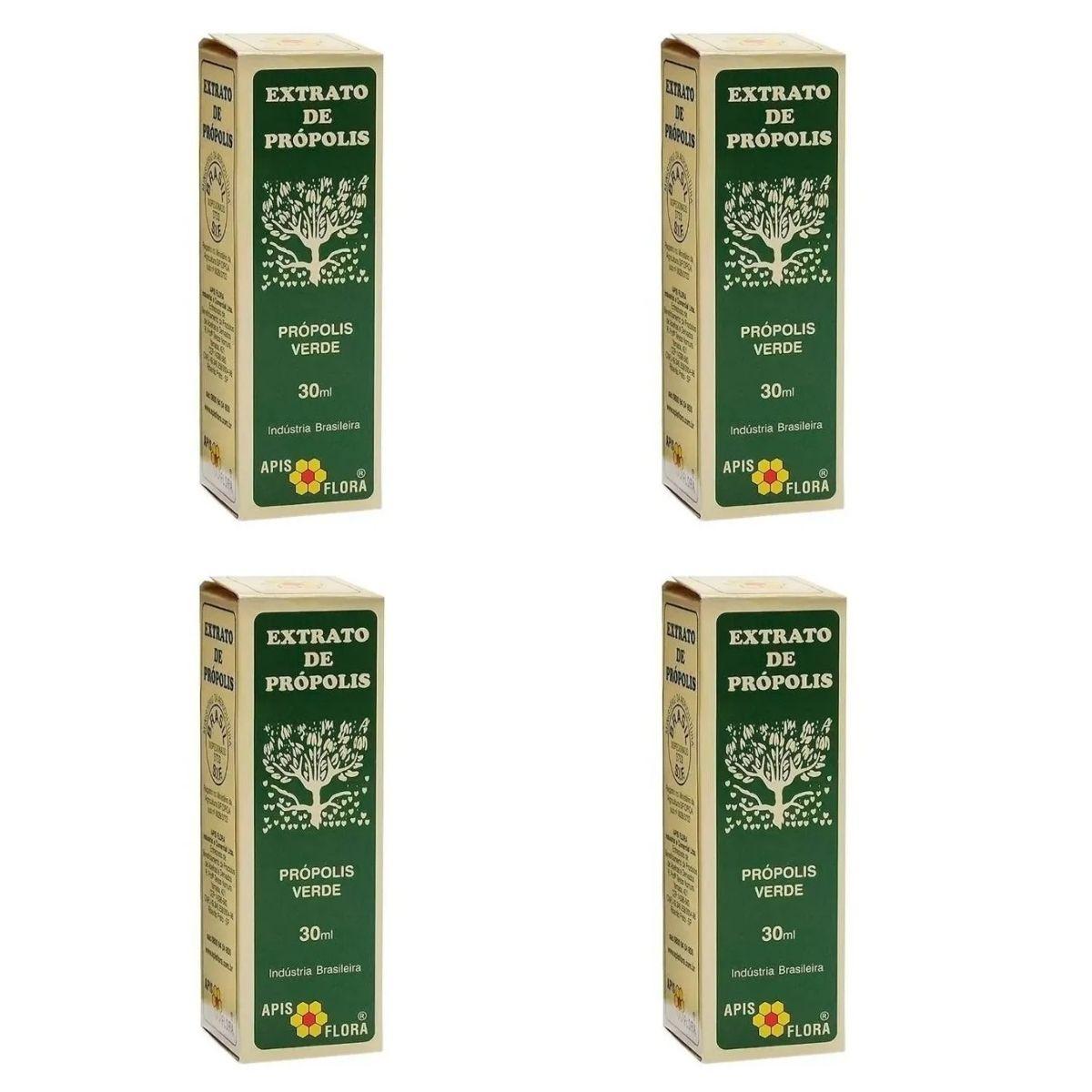 Kit 4 Própolis Verde Em Extrato 30ml Apis Flora