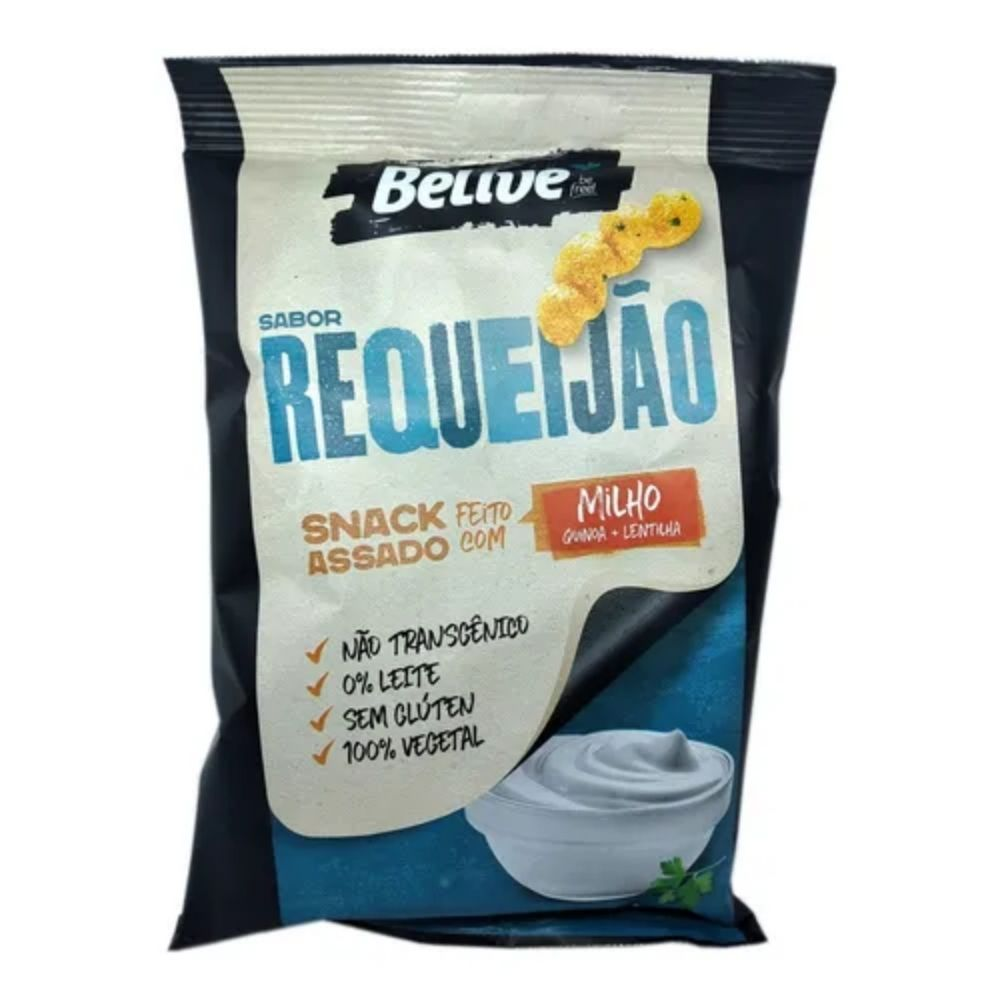 Kit 5 Salgadinhos Snacks Chips S/Glúten Sabor Requeijão 35g - Belive