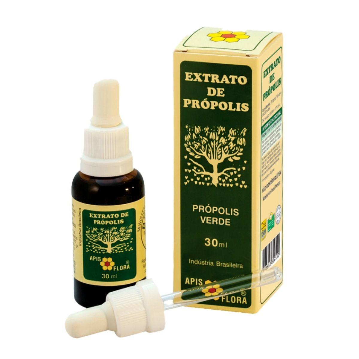 Kit com 3 Própolis Verde Com Álcool 30ml - Apis Flora