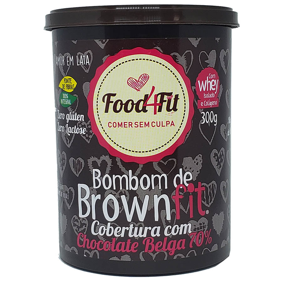 Lata Bombom Brown Fit 300g - Food 4 Fit