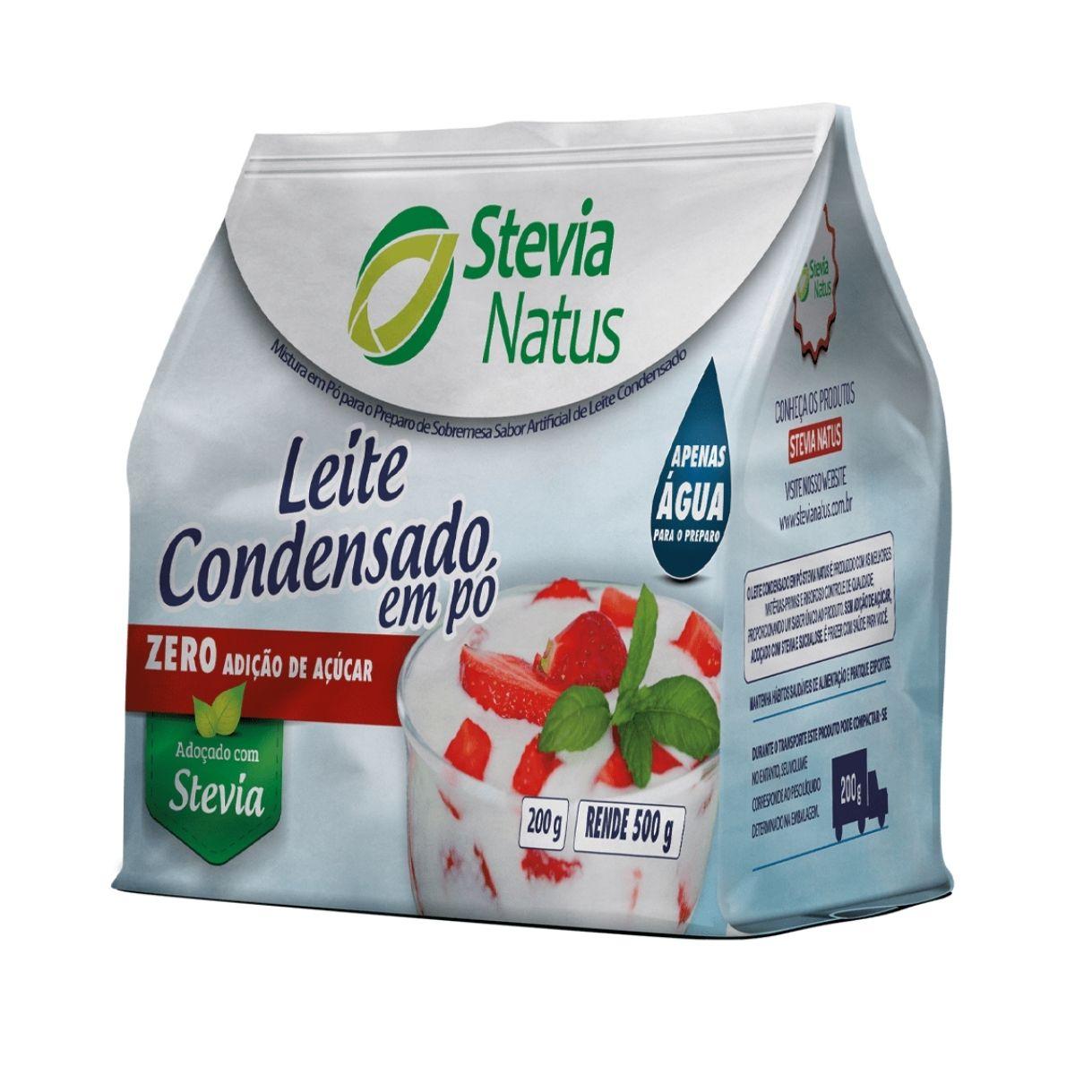 Leite condensado em pó 200g - Stevia Natus