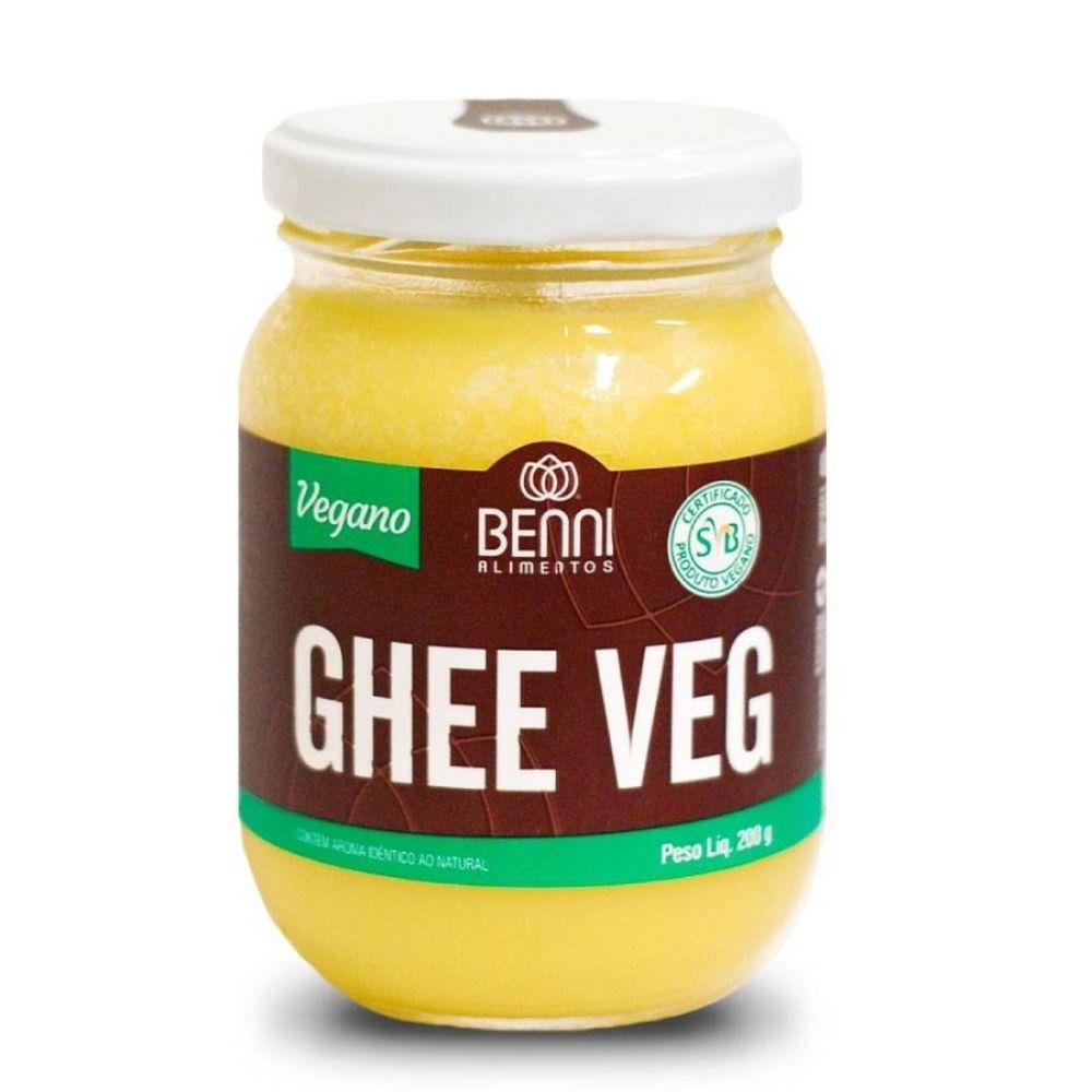 Manteiga Ghee Veg Vegano 200g 3 potes - Benni Alimentos