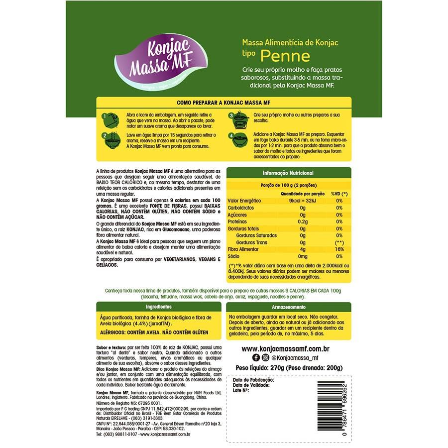 Massa Alimentícia Penne 270g - Konjac