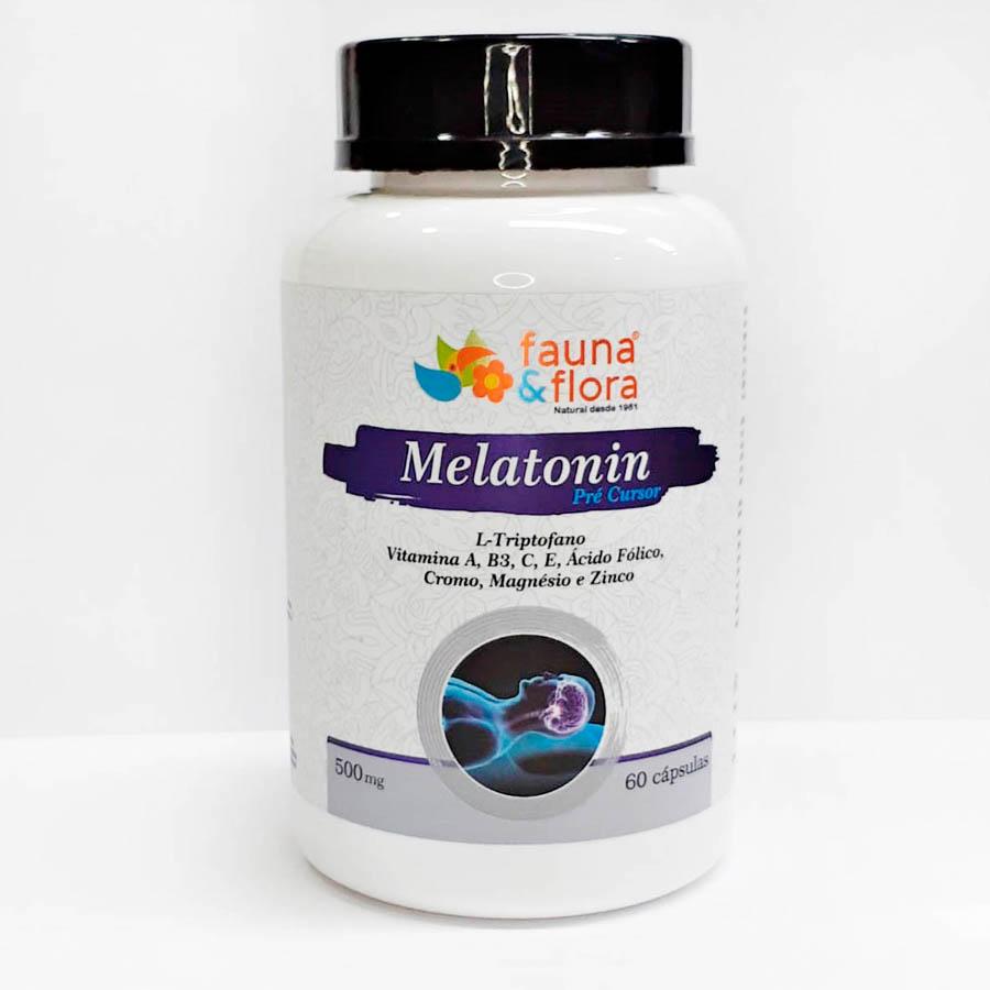 Melatonin Pré-Cursor Do Sono - 500mg 60 Cápsulas- Fauna e Flora