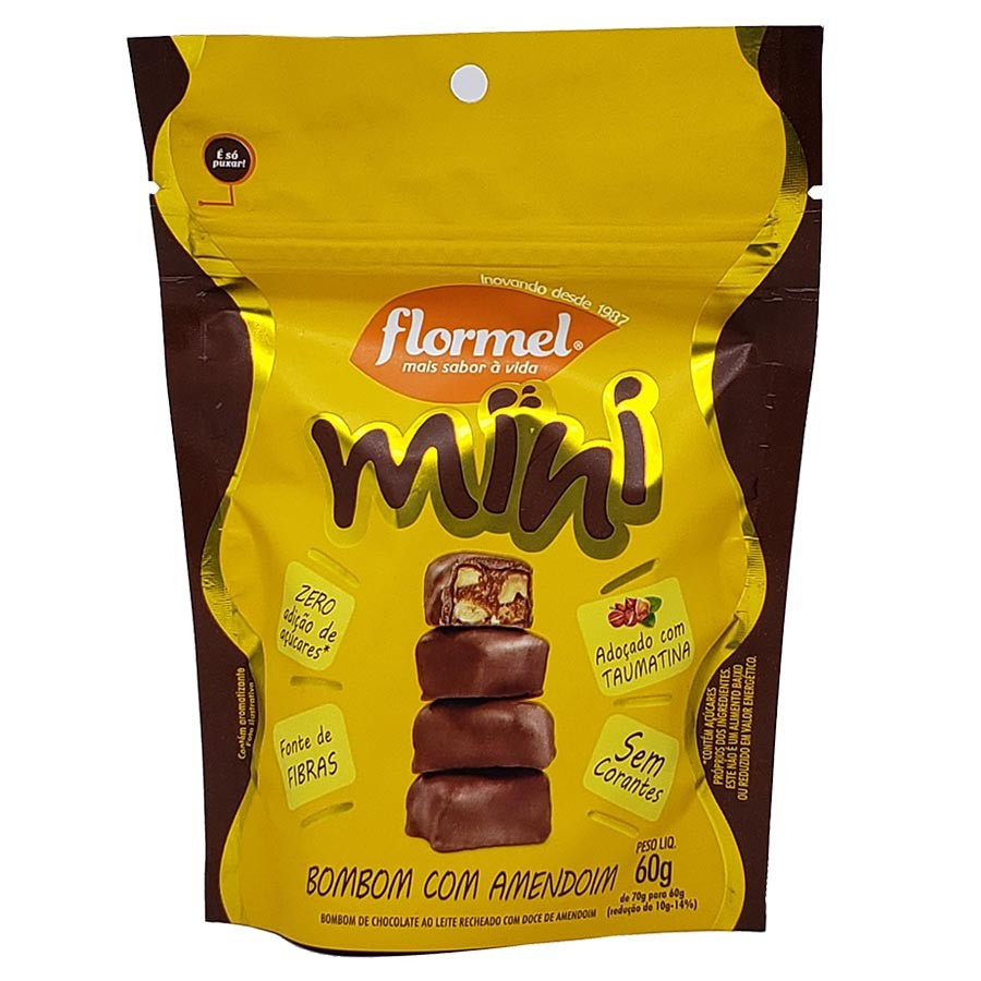 Mini Bombom De Amendoim 60g - Flormel