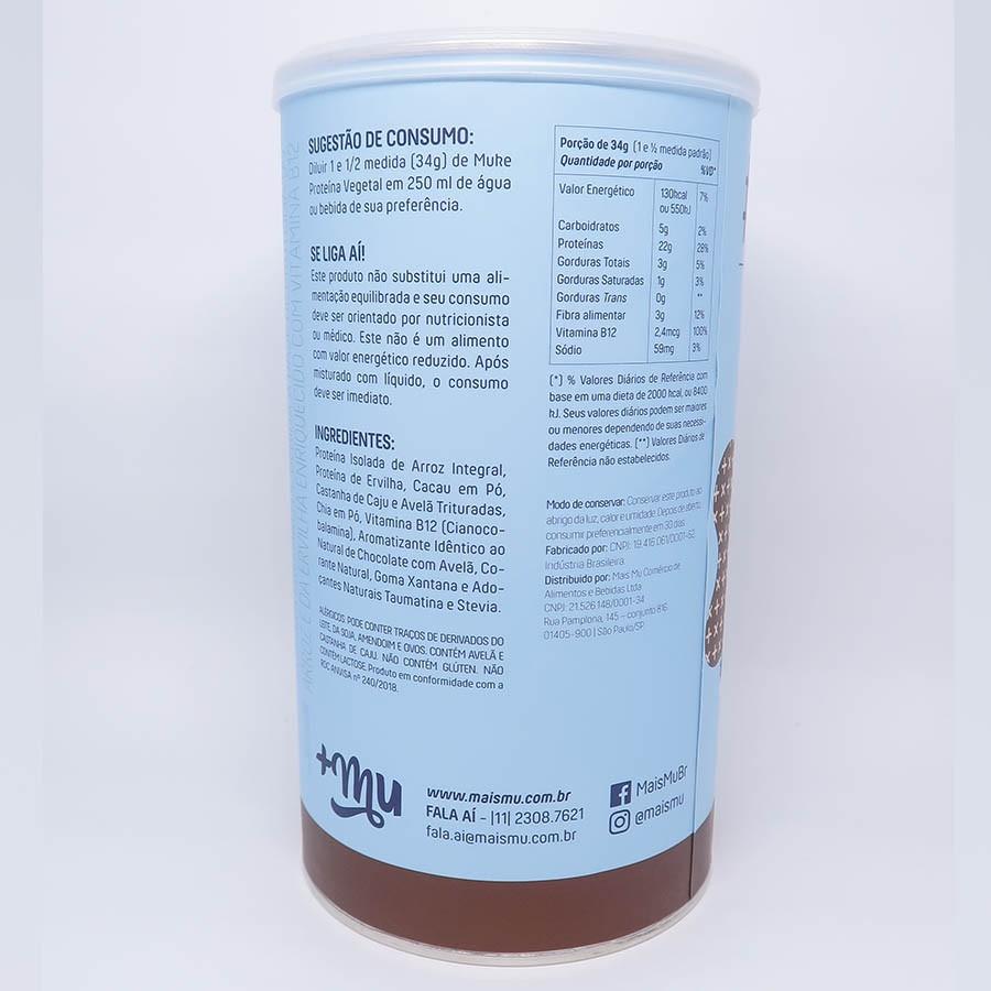 Muke Proteina Vegetal Chocolate Com Avelã 450g - +Mu