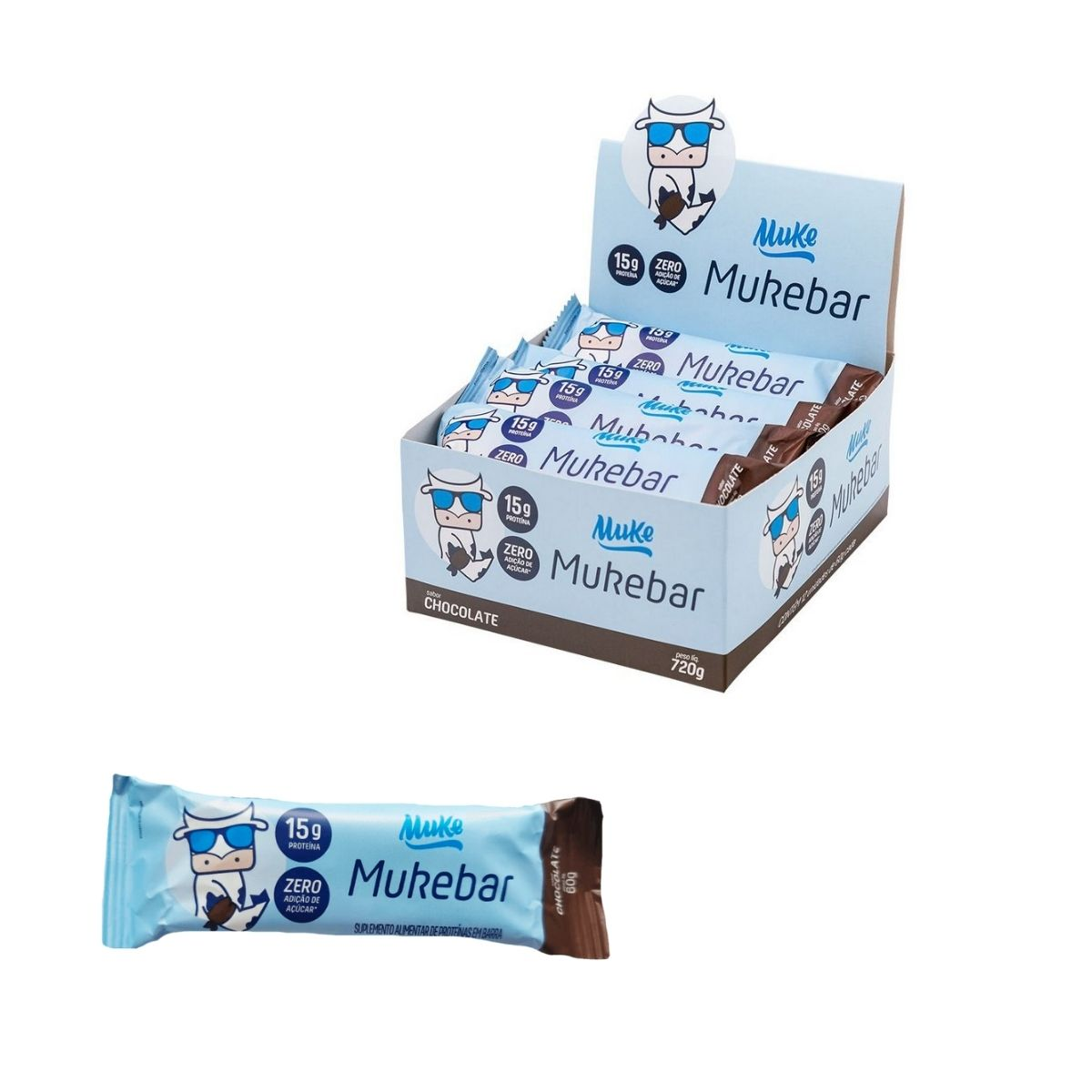 Mukebar chocolate 720g 12 unidades - Muke
