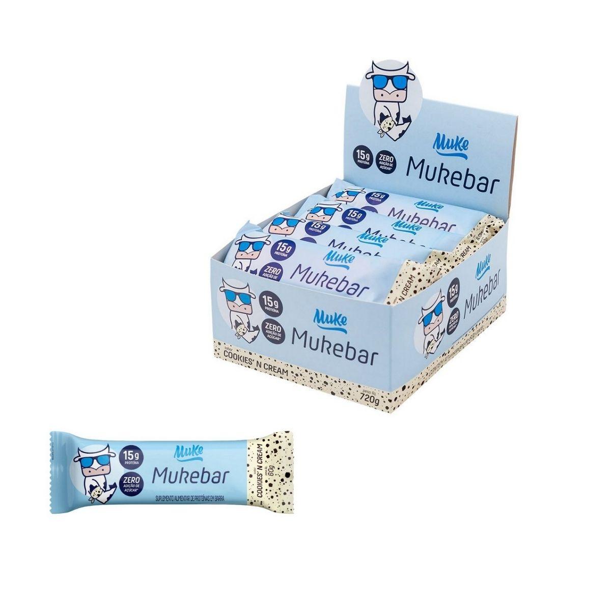 Mukebar cookies cream 720g 12 unidades - Muke