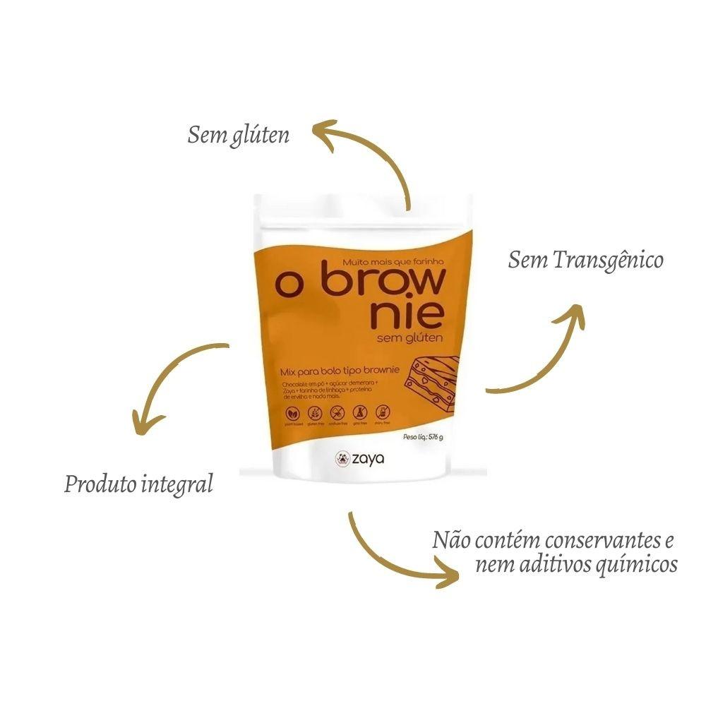 O Brownie Mix Para Bolo Sem Glúten 576G - ZAYA
