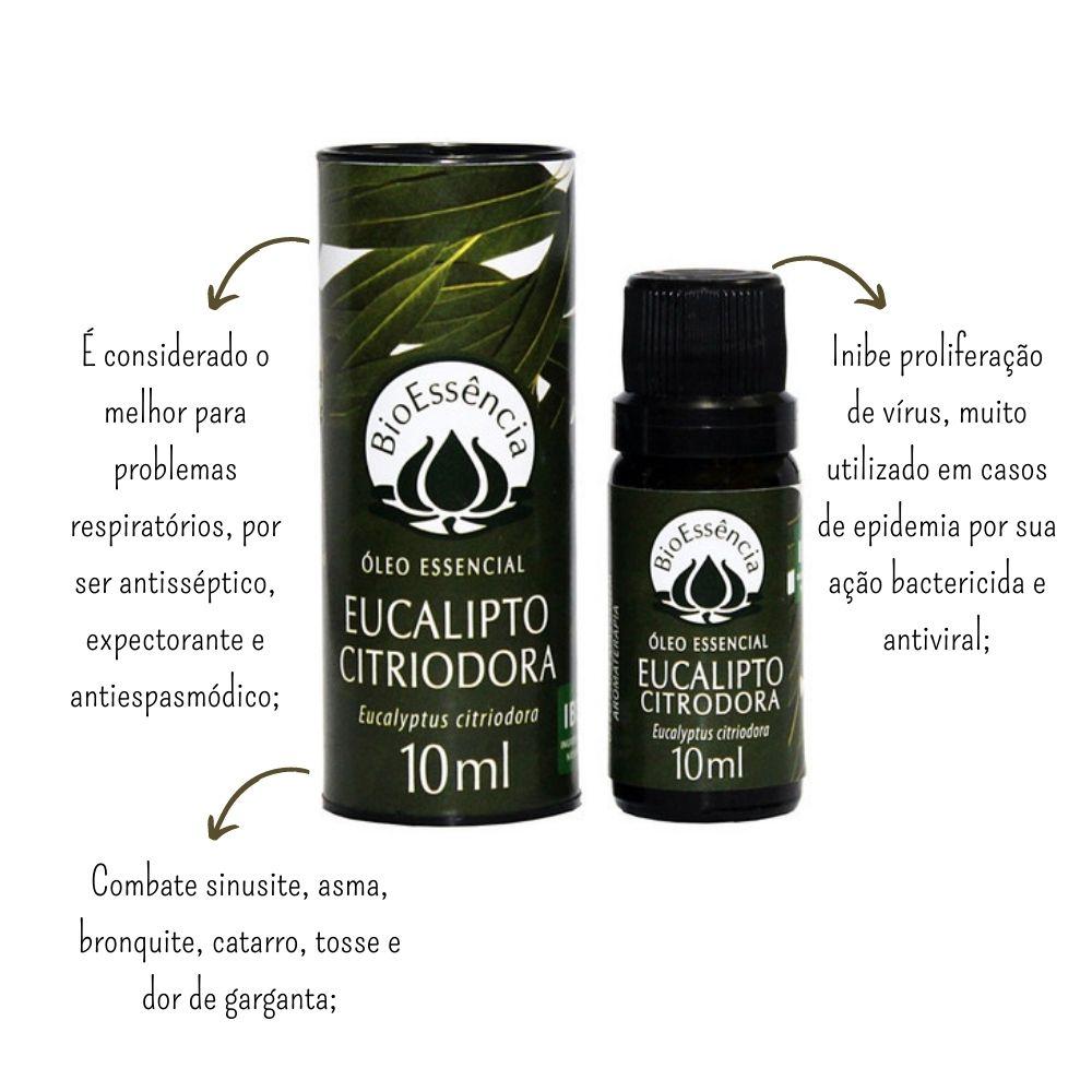 Óleo Essencial Eucalipto Citriodora 10ml - BioEssência