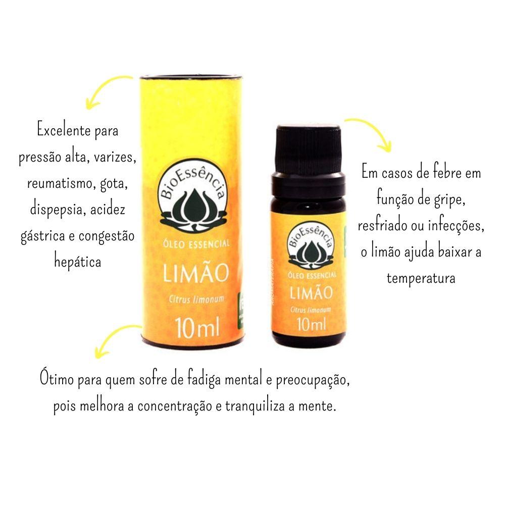 Óleo Essencial Limão 10ml - BioEssência