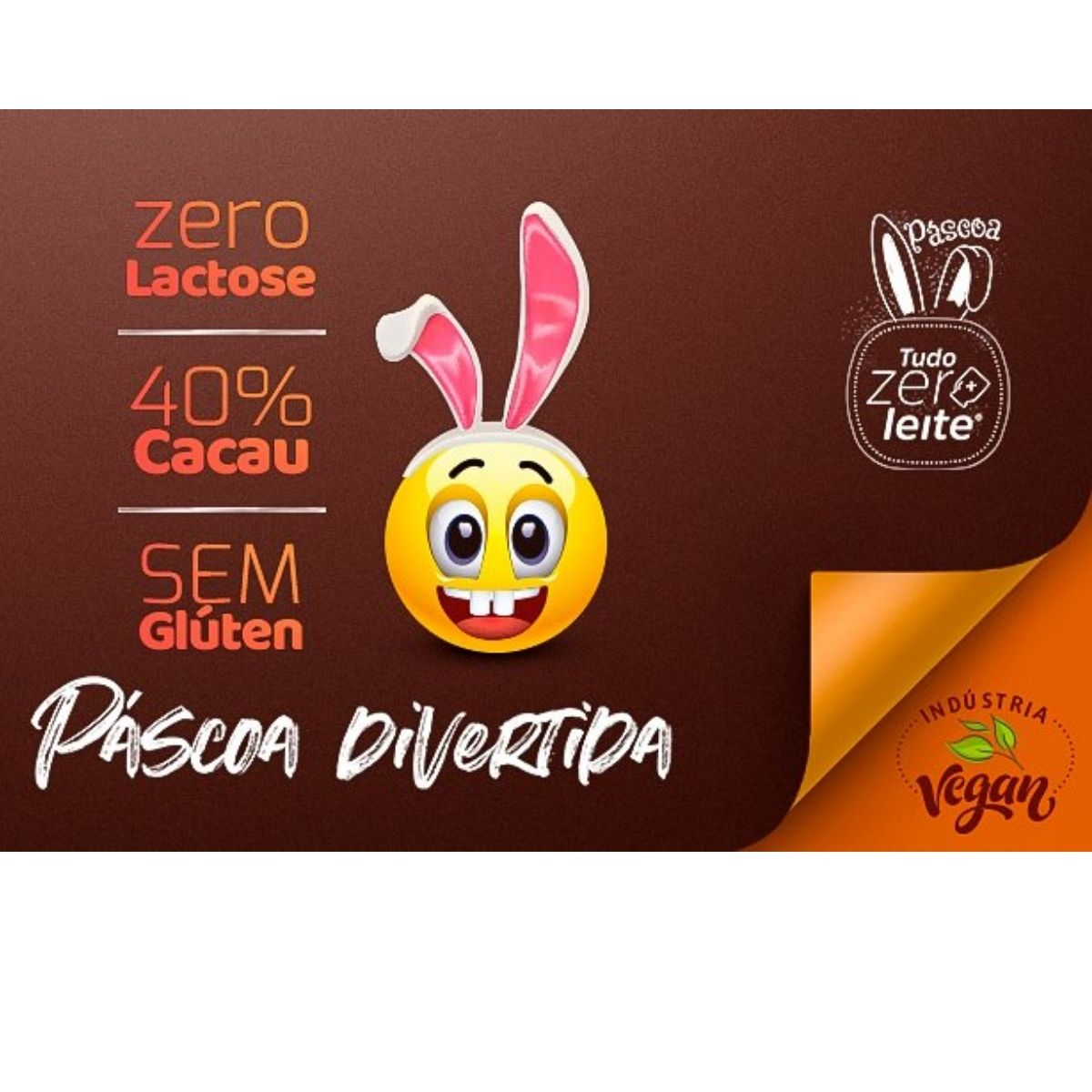 Ovo De Páscoa Zeromilk Smiles Sem Lactose 160g Vegano