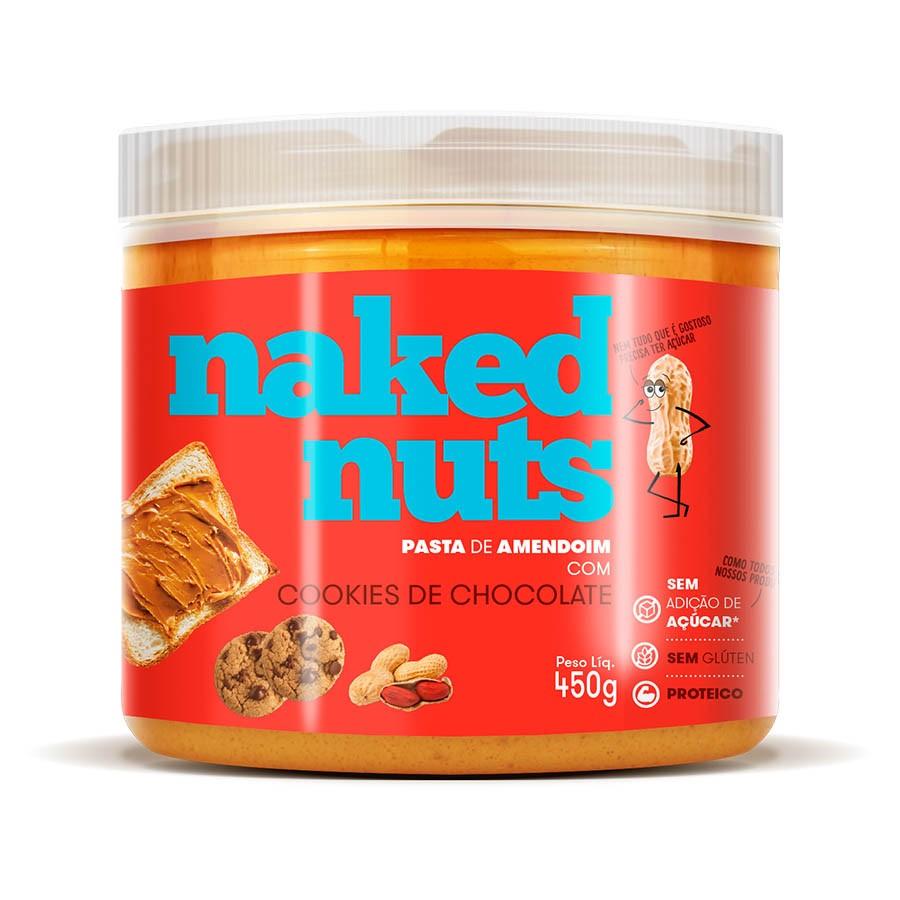 Pasta De Amendoim Com Cookies De Chocolate 450G - Naked Nuts