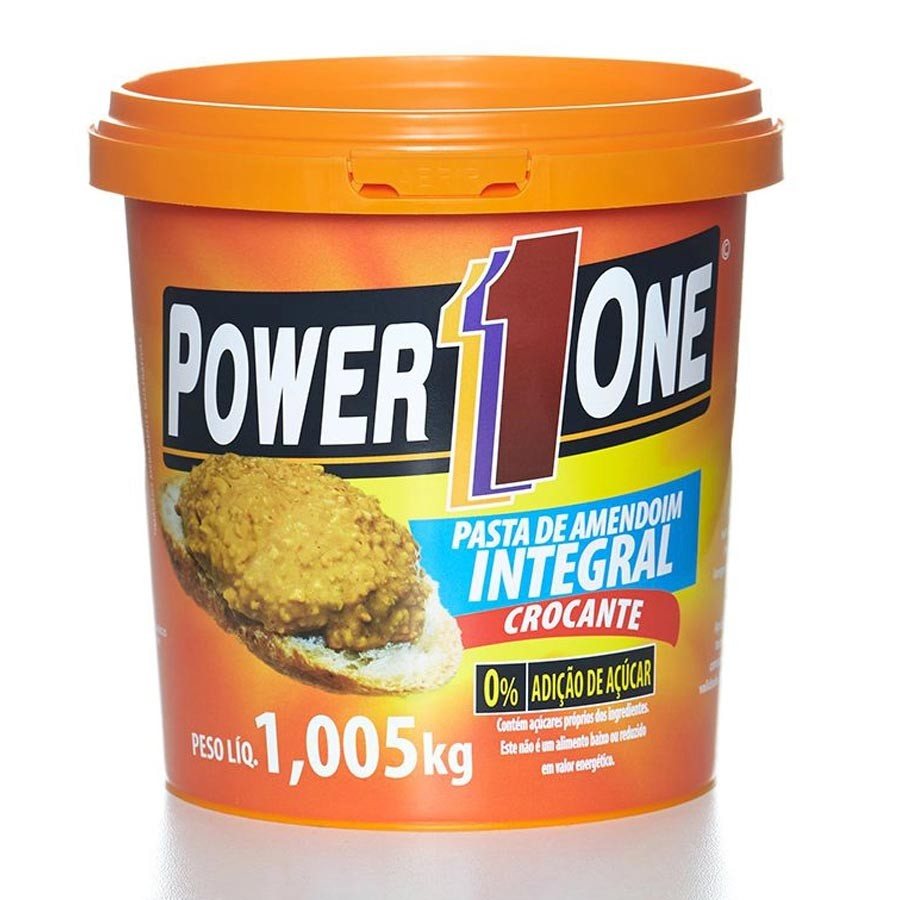 Pasta De Amendoim Integral Crocante 1,005kg - Power One
