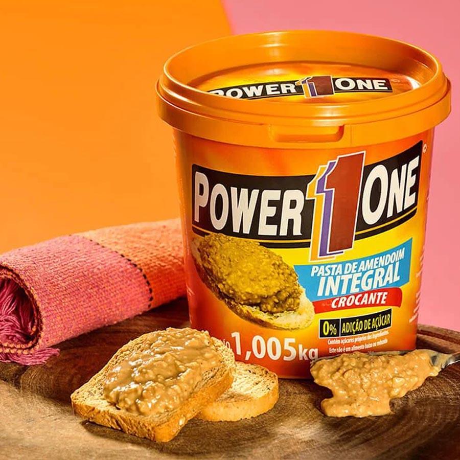 Pasta De Amendoim Integral Crocante 1,005kg - Power One
