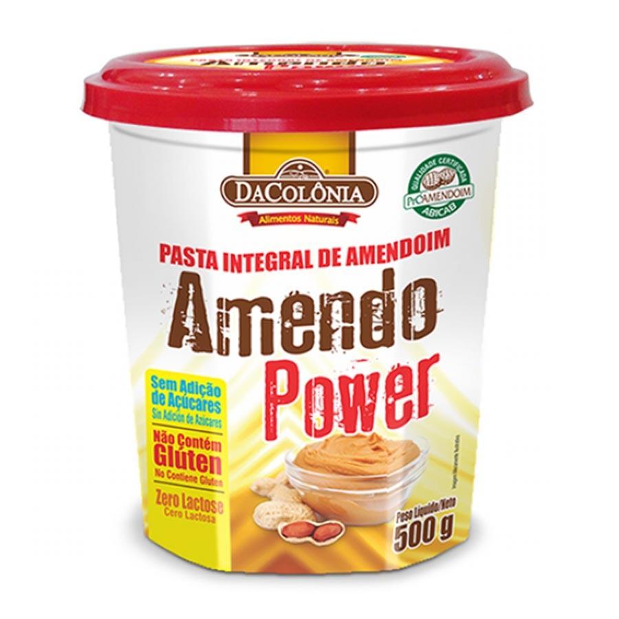 Pasta De Amendoim Tradicional Integral Amendopower 500g - Dacolonia